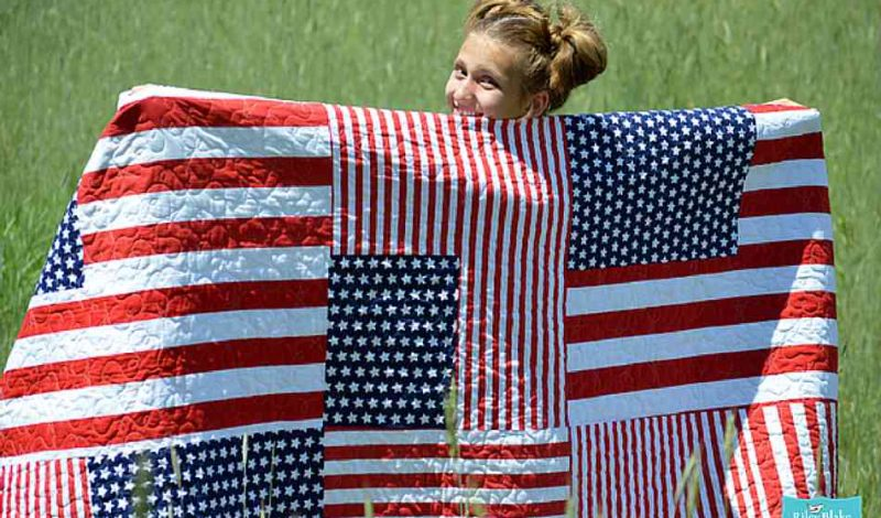 Memorial Day Quilting Project  | DIY Scrappy American Flag Quilt Block