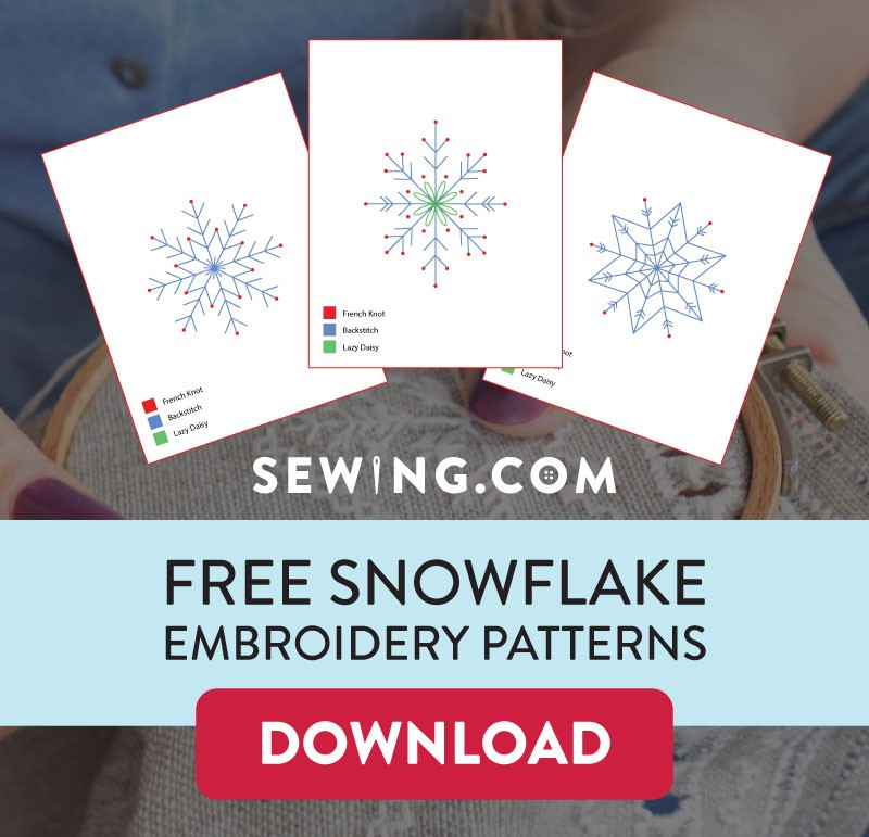 Click here to download your FREE Snowflake Embroidery Patterns!