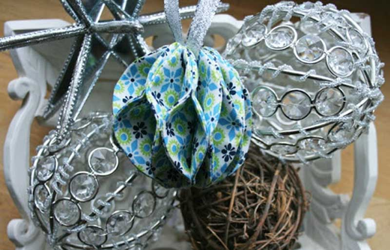 ball fabric ornament   christmas ornaments to sew