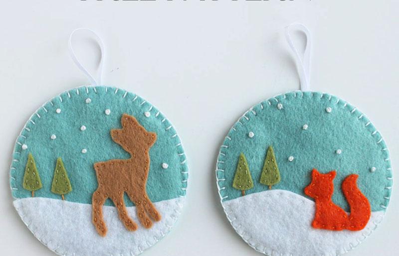 deer fox ornament   christmas ornaments to sew