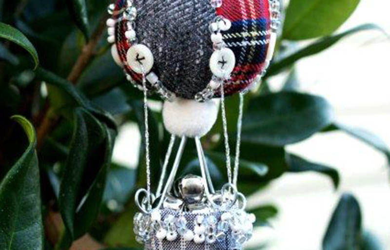 highland hot air ornament   christmas ornaments to sew