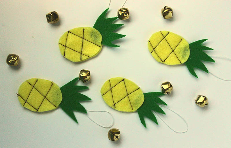 pineapple ornament   christmas ornaments to sew