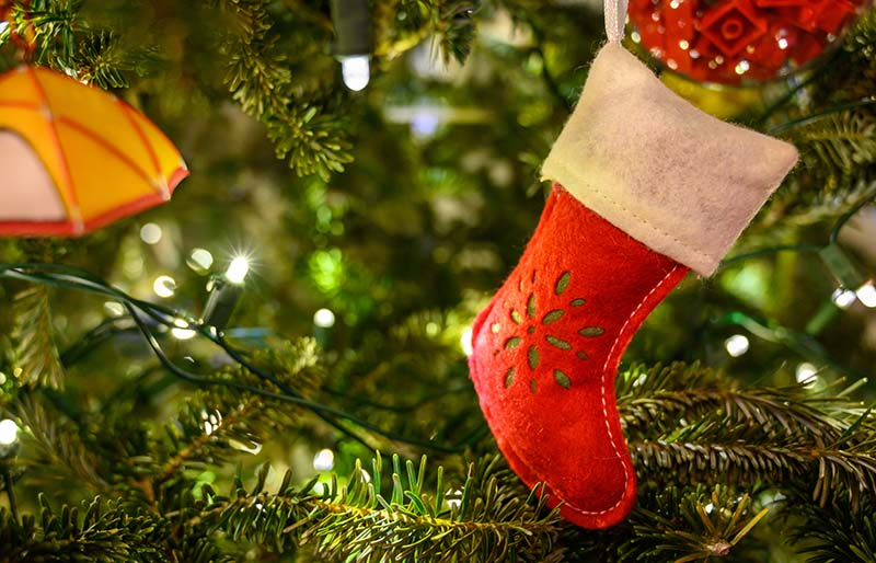 stocking ornament string lights on christmas | christmas ornaments to sew