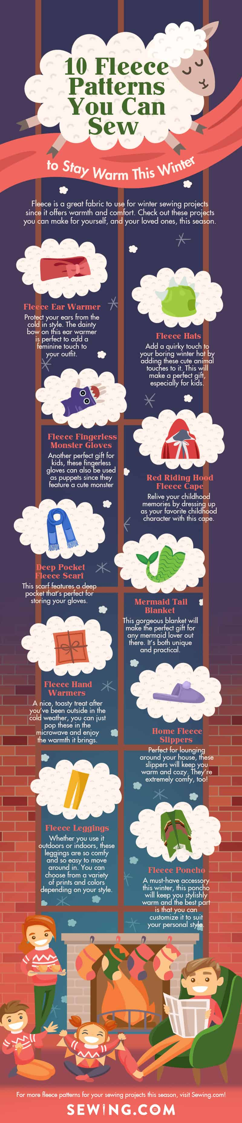 Fleece Patterns You Can Sew To Stay Warm This Winter | Infographic