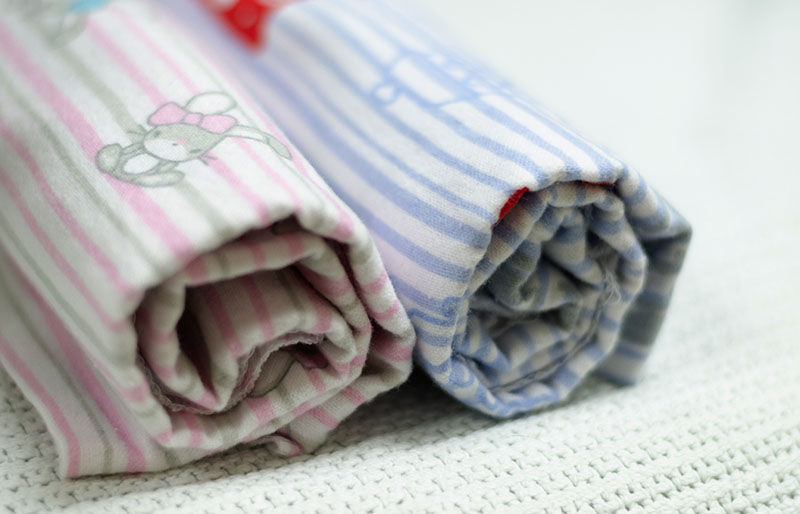 isolated pink blue baby receiving blanket | sewing for beginners