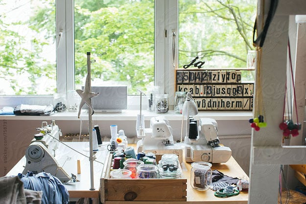 Keep the Ones You Love Closer | Organizing Tips for Small Sewing Spaces