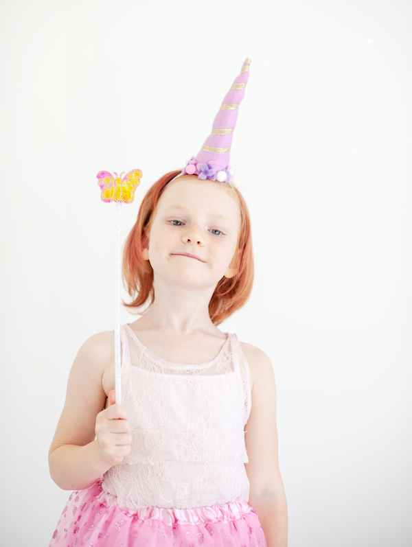 The girl in the unicorn costume | halloween diy costumes