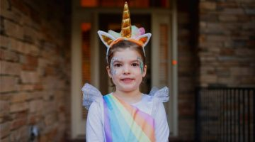 Toddler in Unicorn Costume | 11 Unicorn Costume Ideas For A Magical Halloween | featured