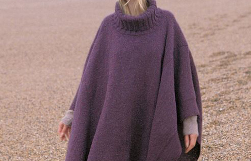 turtleneck knit poncho | creative knitting projects