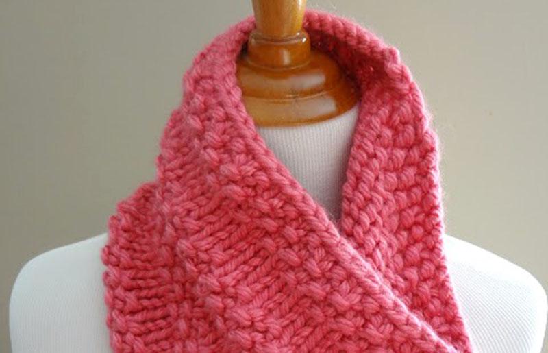 bubblegum cowl | creative knitting projects