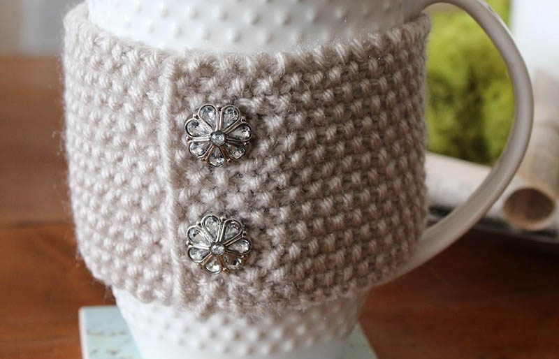 diy cup cozy | creative knitting projects