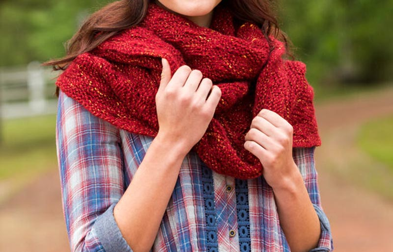 garter lace cowl | creative knitting projects
