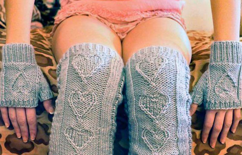 heart warmers | creative knitting projects