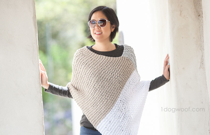 knit colorblock poncho | creative knitting projects