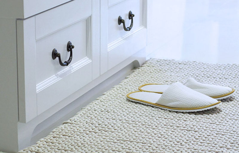 knitted floor mat | creative knitting projects