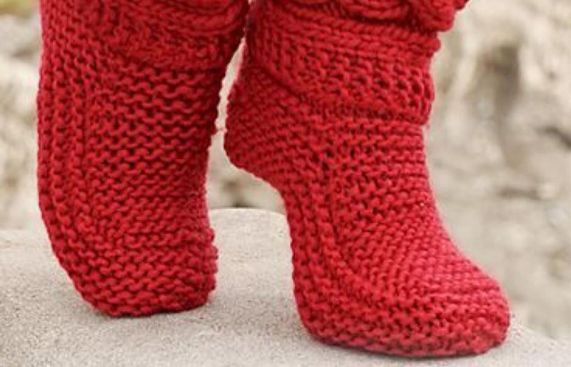little red riding slippers | creative knitting projects