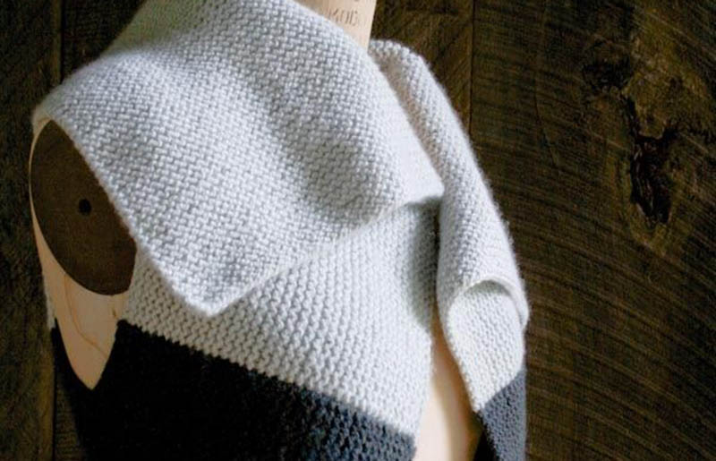 sideways garter vest | creative knitting projects
