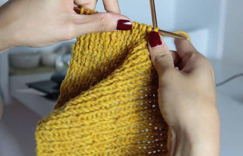 yellow crochet textile | basic sewing skills