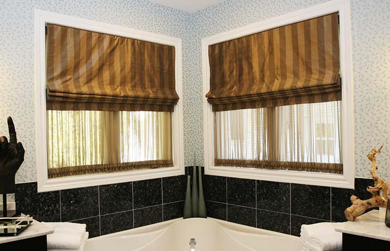 bathroom interior | window shade