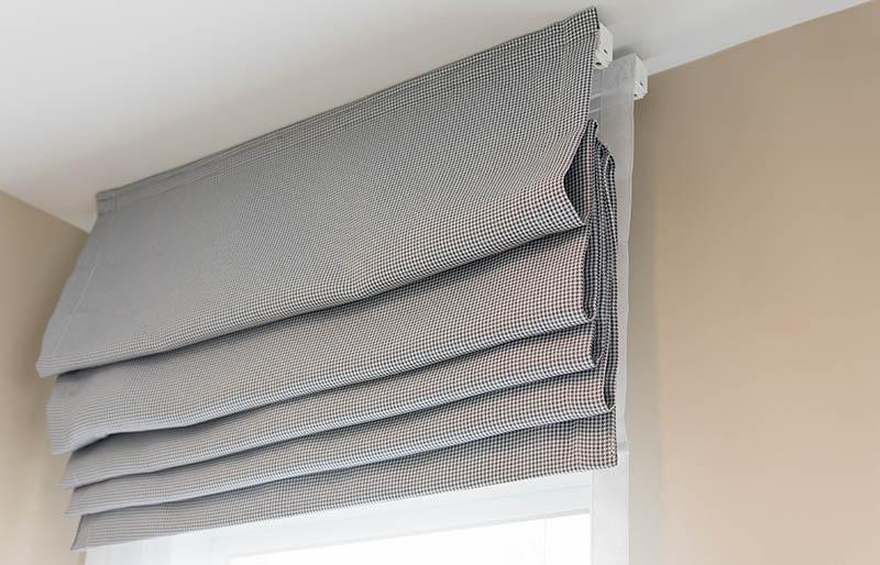 closed beautiful grey curtain cozy room | window shade