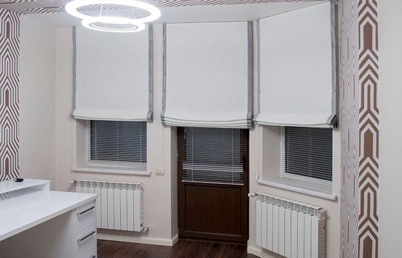 light roman blinds interior room | window shade