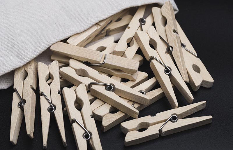 clothespins clothespin drying billiards | diy sewing room organization ideas
