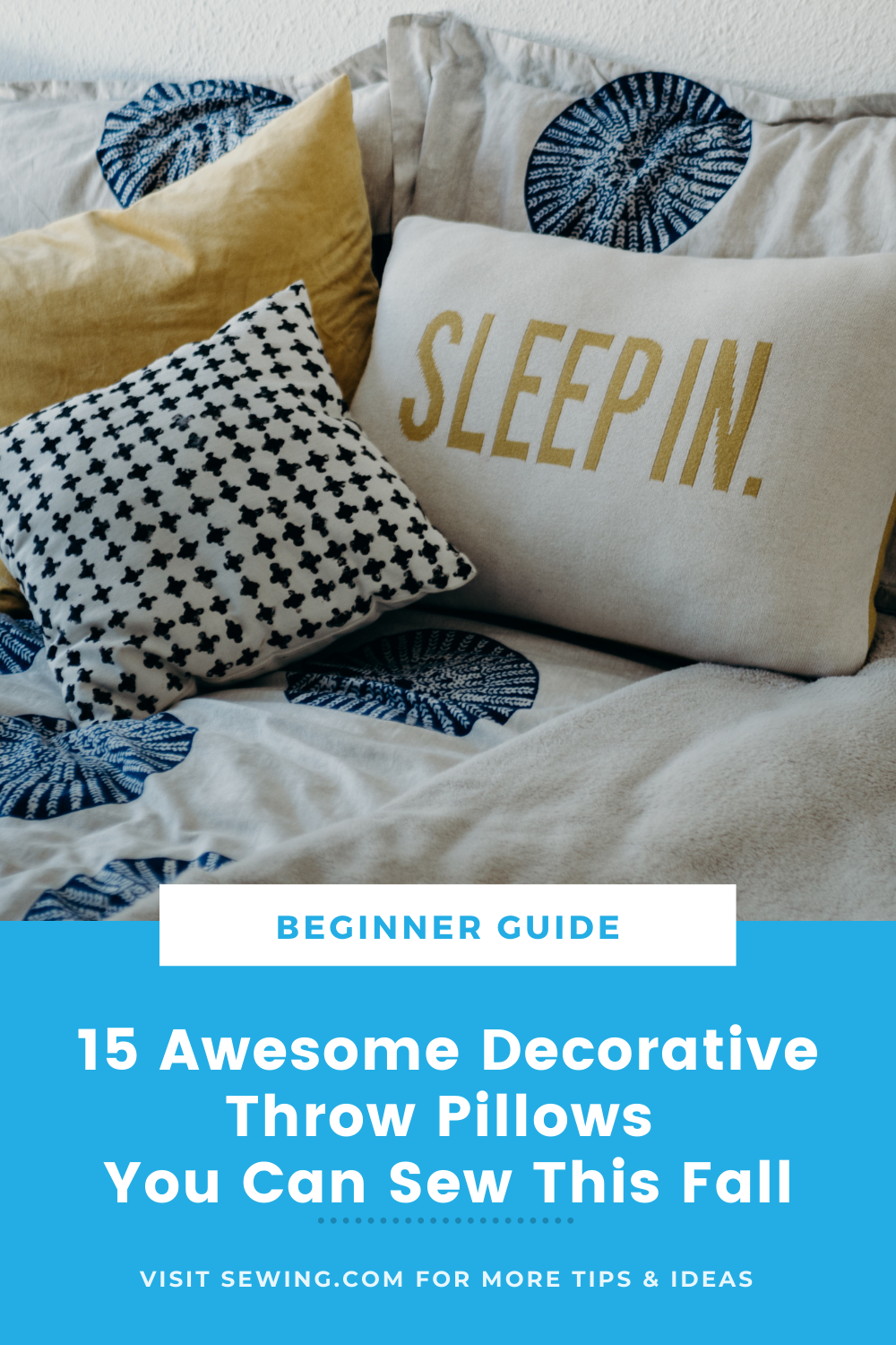 placard | 15 Awesome Decorative Throw Pillows You Can Sew This Fall