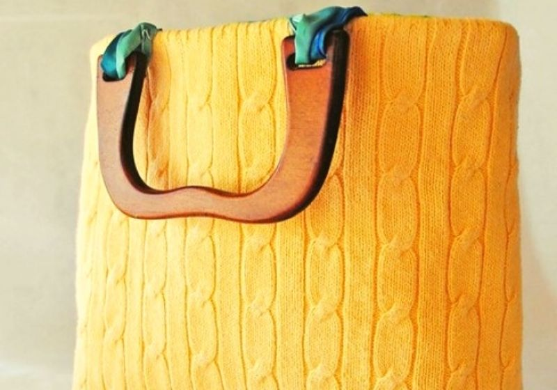 Autumn Sweater Bag | sewing projects for beginners