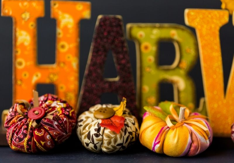Fabric pumpkins | easy sewing patterns