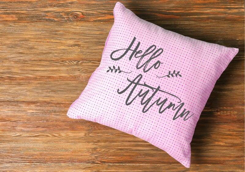 Pink Polka Dot Throw Pillow | throw pillows for bed