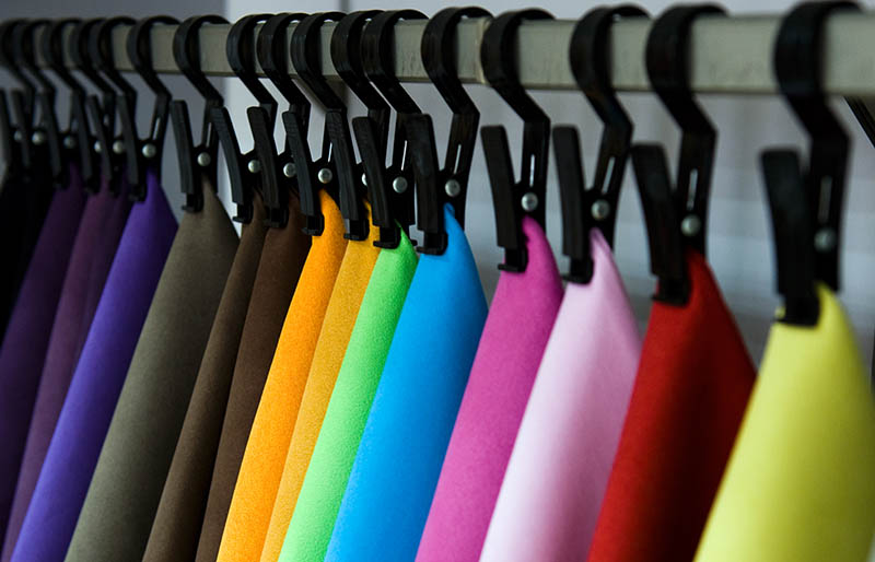 color palette sample picker leather material | fabric stash management