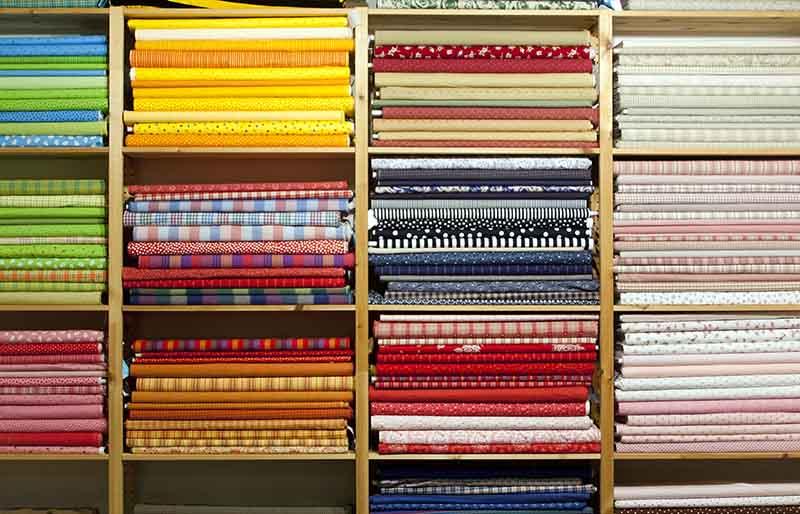 colorful cloth | fabric stash management
