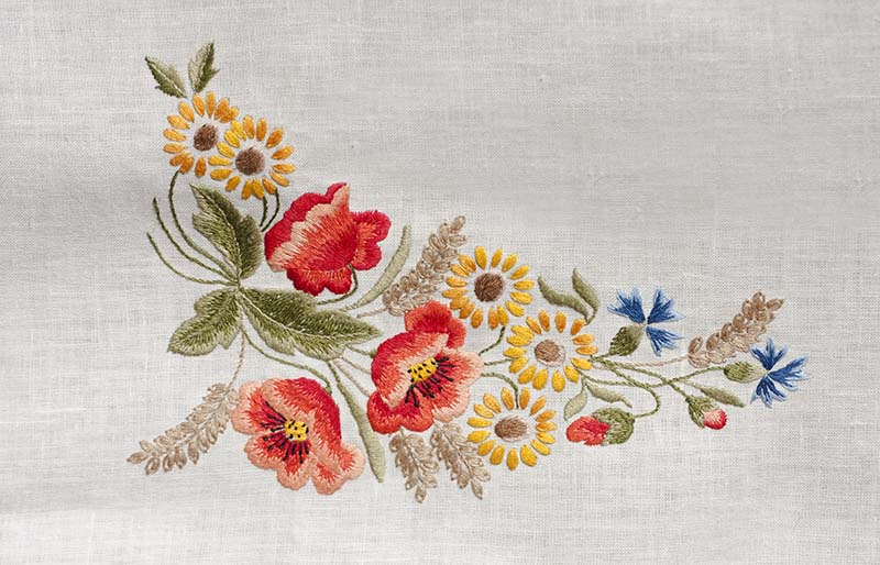 flowers embroidered by hand | hand embroidery stitches