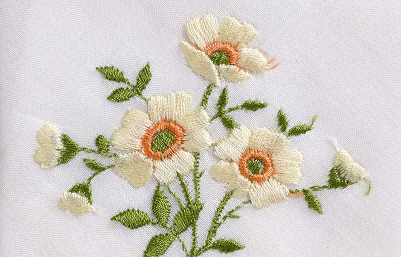 hand embroidered flower | hand embroidery stitches