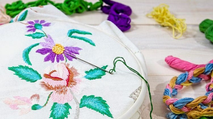 embroidery flowers sewing accessories canvas hoop | Must-Have Hand Embroidery Supplies | Featured