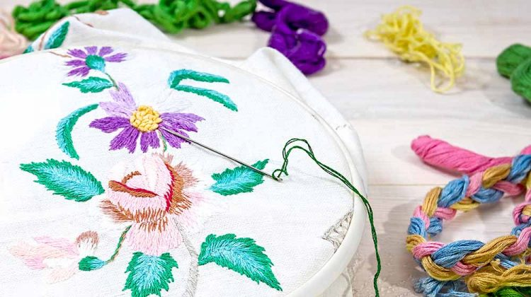 embroidery flowers sewing accessories canvas hoop | Hand Embroidery Supplies | Must-Haves for Beginners | Featured