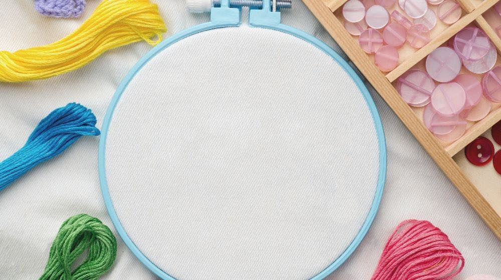 embroidery hoop blank fabric colored sewing | Must-Have Hand Embroidery Supplies