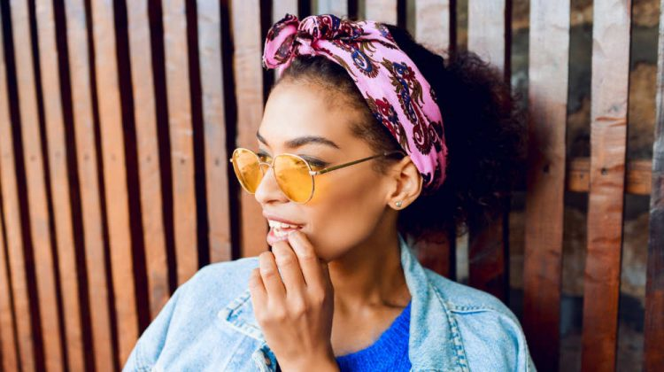 close lifestyle portrait stylish pretty mixed girl | Head Wrap Tutorial | How to Make Your Own in 6 Easy Steps | Featured