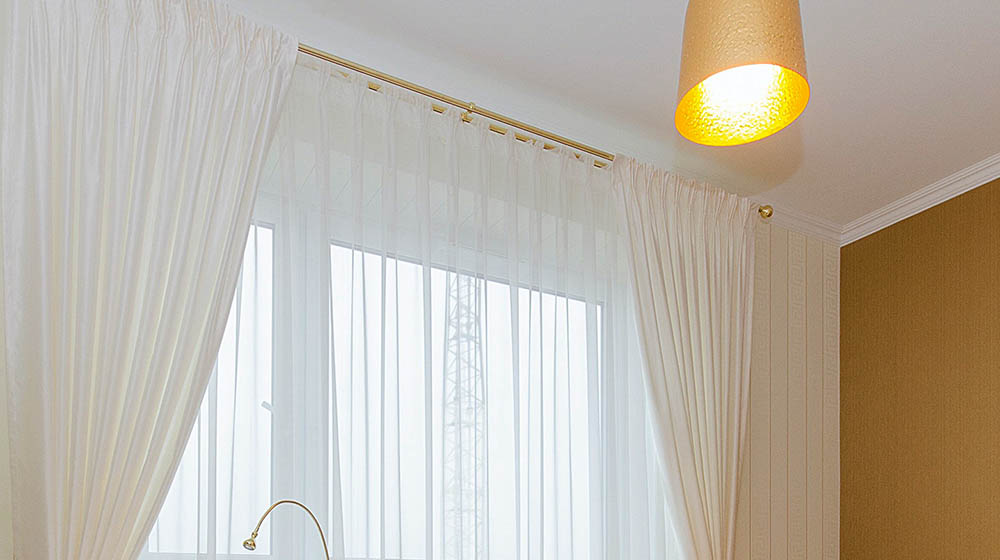 Simple Diy Rod Pocket Curtains For, How To Make Tension Rod Curtains