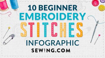 feature image | 11 Hand Embroidery Stitches Every Sewer Should Know [INFOGRAPHIC]