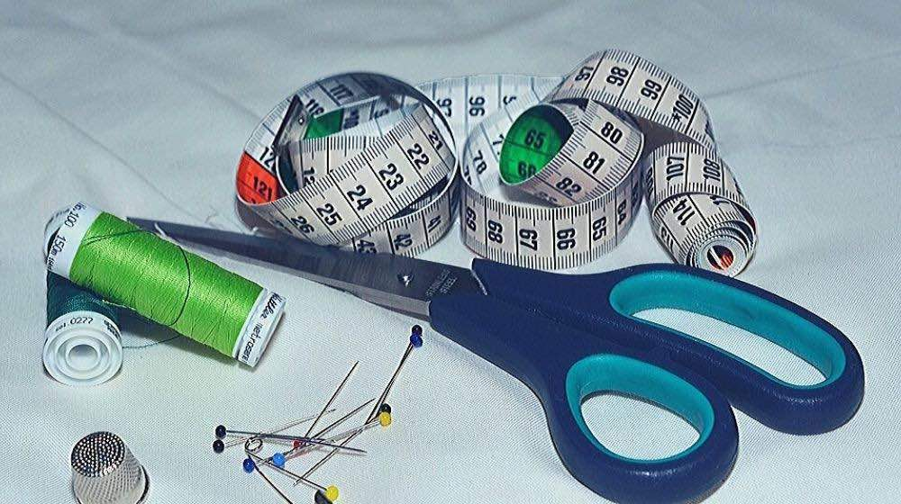 sewing materials pins thimble tape measure thread scissors | Free Online Sewing Classes You Can Take