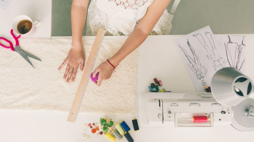 tailor working studio view top | Space Saving Sewing Tables For Small Areas