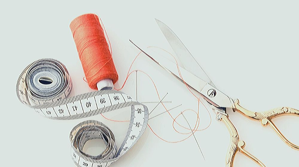 tape measure thread fabric scissors sewing materials | Free Online Sewing Classes You Can Take | sewing classes