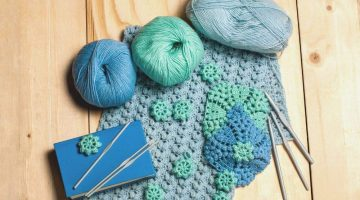 composition knitting tools crocheted bluegreen openwork | Essential Crochet Tools For Beginners | Featured