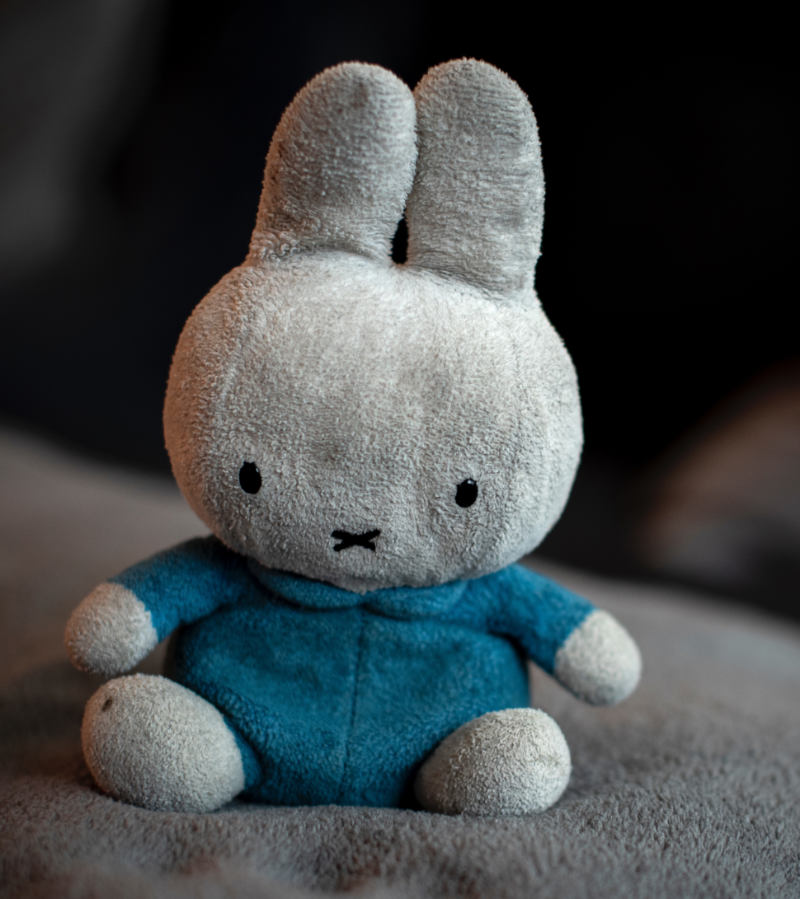 gray and blue bunny plush toy | diy home decor projects