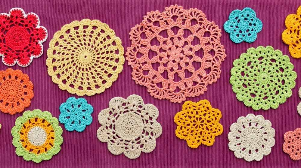 wonderful colored crochet doilies | Essential Crochet Tools For Beginners