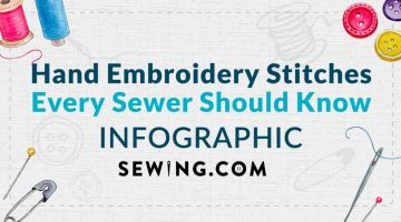 Hand Embroidery Stitches Every Sewer Should Know [INFOGRAPHIC] | Featured