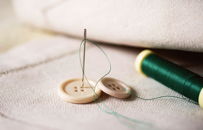 needle button sew tailoring fabric | sewing hacks