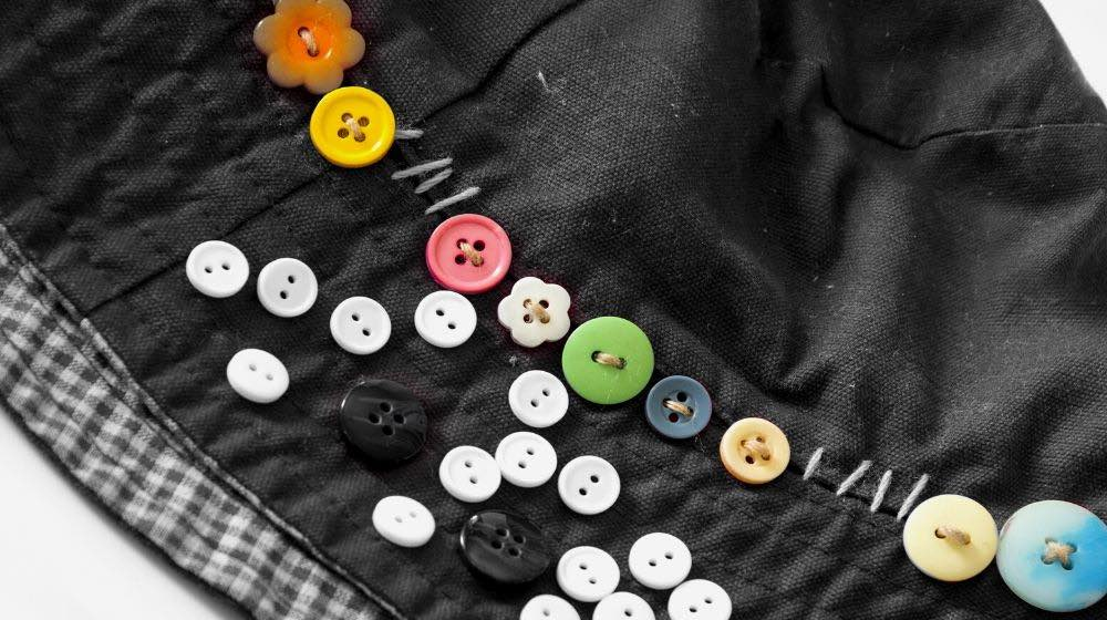 sewing buttons color white black | How To Sew A Button Like An Expert