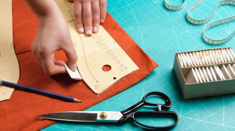 tailor laying out dress sewing layout | Plus Size Dress Patterns Perfect For Spring | Featured